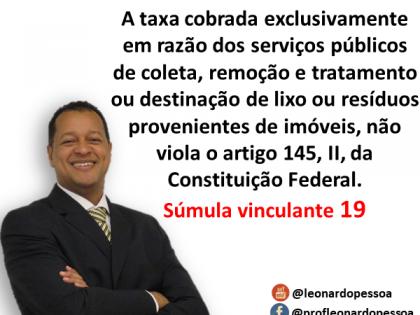 Base de Cálculo das Taxas